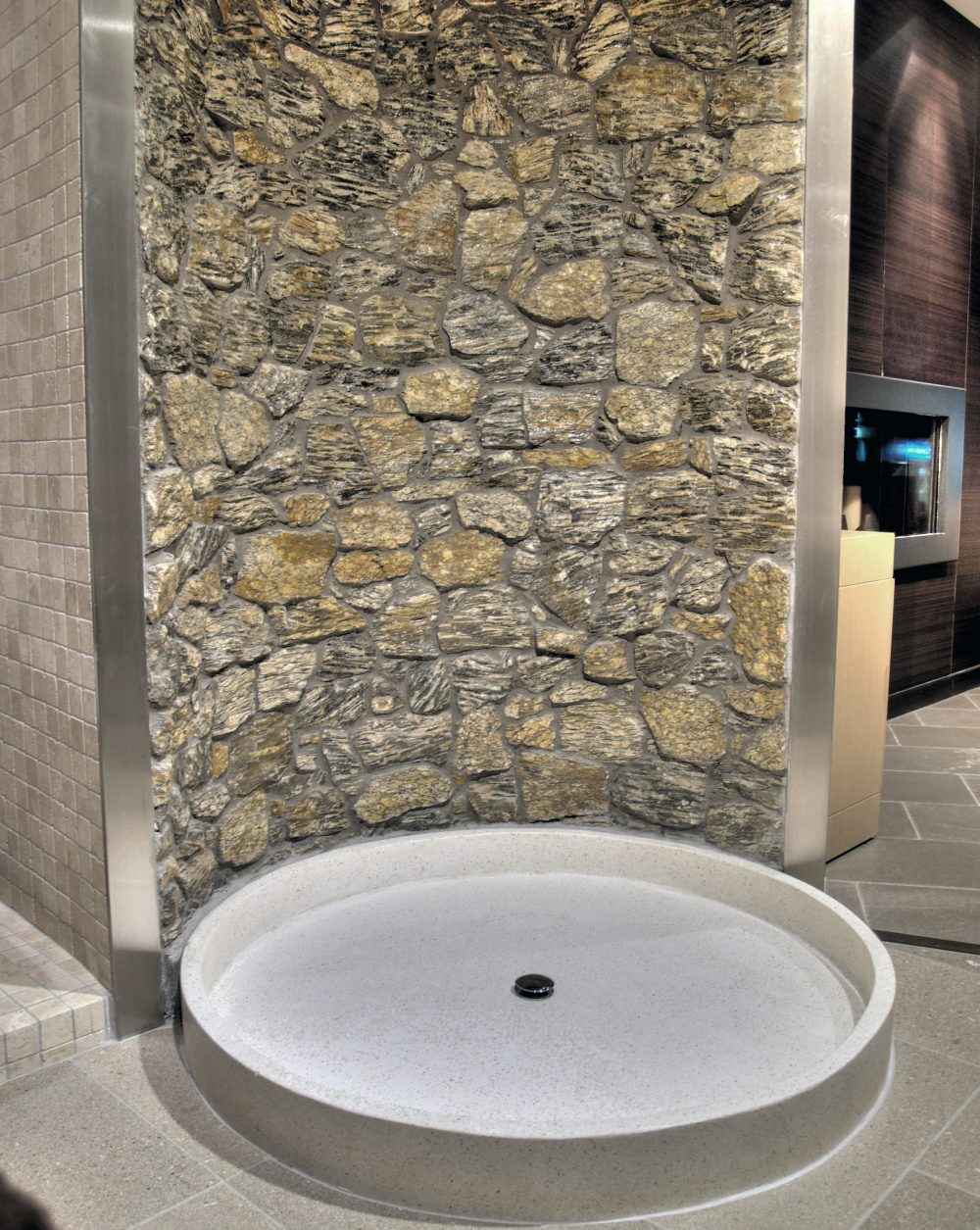 APPLICATION OF WOODENSTONE ON SHOWER