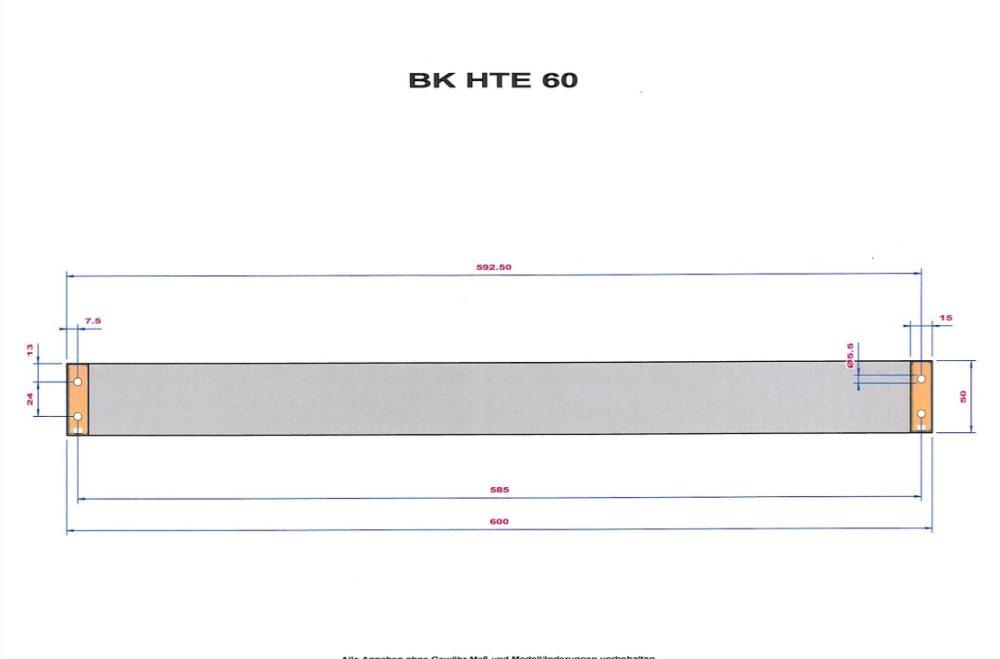 BRICK SHOWER RAIL BK HTE60 DESIGN