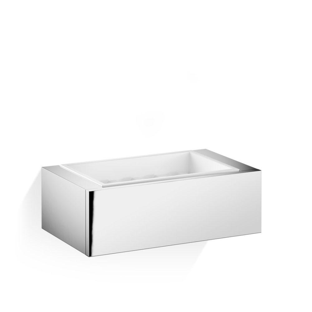 BK WSS SOAP DISH CHROME/PORCELAIN